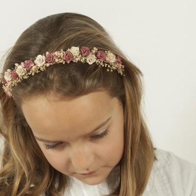 Diademas ni as comuni n y arras colecci n sonia boda flor Diademas de nina originales
