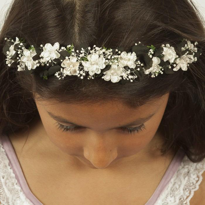 48fc3713d Diademas de Flores Negras para Niñas – Boda Flor